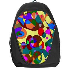 Abstract Digital Circle Computer Graphic Backpack Bag