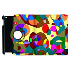 Abstract Digital Circle Computer Graphic Apple Ipad 2 Flip 360 Case by Nexatart