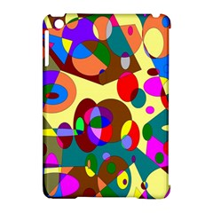 Abstract Digital Circle Computer Graphic Apple Ipad Mini Hardshell Case (compatible With Smart Cover)