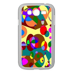 Abstract Digital Circle Computer Graphic Samsung Galaxy Grand Duos I9082 Case (white)