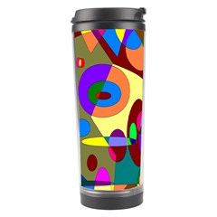 Abstract Digital Circle Computer Graphic Travel Tumbler by Nexatart