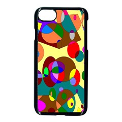 Abstract Digital Circle Computer Graphic Apple Iphone 7 Seamless Case (black) by Nexatart