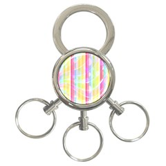 Abstract Stipes Colorful Background Circles And Waves Wallpaper 3 Ring Key Chains by Nexatart