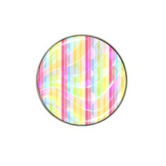 Abstract Stipes Colorful Background Circles And Waves Wallpaper Hat Clip Ball Marker (10 Pack)
