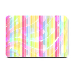 Abstract Stipes Colorful Background Circles And Waves Wallpaper Small Doormat