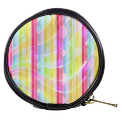 Abstract Stipes Colorful Background Circles And Waves Wallpaper Mini Makeup Bags by Nexatart