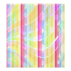 Abstract Stipes Colorful Background Circles And Waves Wallpaper Shower Curtain 66  X 72  (large)  by Nexatart