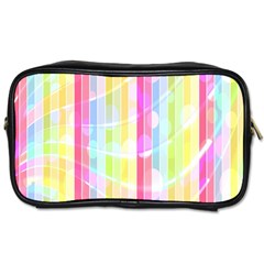 Abstract Stipes Colorful Background Circles And Waves Wallpaper Toiletries Bags 2 Side by Nexatart