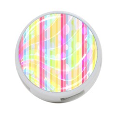 Abstract Stipes Colorful Background Circles And Waves Wallpaper 4 Port Usb Hub (two Sides)  by Nexatart