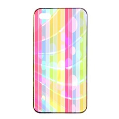 Abstract Stipes Colorful Background Circles And Waves Wallpaper Apple Iphone 4/4s Seamless Case (black) by Nexatart