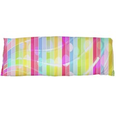 Abstract Stipes Colorful Background Circles And Waves Wallpaper Body Pillow Case Dakimakura (two Sides) by Nexatart