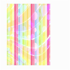 Abstract Stipes Colorful Background Circles And Waves Wallpaper Large Garden Flag (two Sides) by Nexatart
