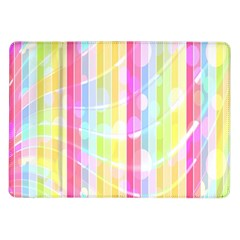 Abstract Stipes Colorful Background Circles And Waves Wallpaper Samsung Galaxy Tab 10 1  P7500 Flip Case