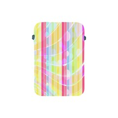 Abstract Stipes Colorful Background Circles And Waves Wallpaper Apple Ipad Mini Protective Soft Cases by Nexatart