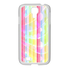 Abstract Stipes Colorful Background Circles And Waves Wallpaper Samsung Galaxy S4 I9500/ I9505 Case (white) by Nexatart
