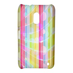 Abstract Stipes Colorful Background Circles And Waves Wallpaper Nokia Lumia 620 by Nexatart