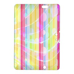 Abstract Stipes Colorful Background Circles And Waves Wallpaper Kindle Fire Hdx 8 9  Hardshell Case by Nexatart