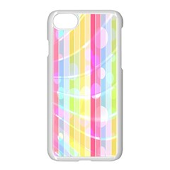 Abstract Stipes Colorful Background Circles And Waves Wallpaper Apple Iphone 7 Seamless Case (white) by Nexatart