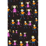 Kids Tile A Fun Cartoon Happy Kids Tiling Pattern 5.5  x 8.5  Notebooks Back Cover