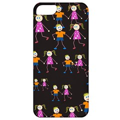 Kids Tile A Fun Cartoon Happy Kids Tiling Pattern Apple Iphone 5 Classic Hardshell Case