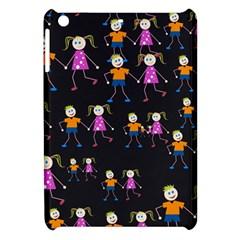 Kids Tile A Fun Cartoon Happy Kids Tiling Pattern Apple Ipad Mini Hardshell Case by Nexatart