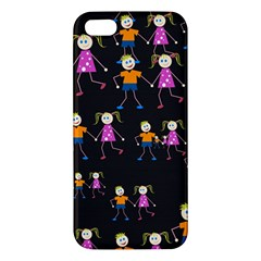 Kids Tile A Fun Cartoon Happy Kids Tiling Pattern Apple Iphone 5 Premium Hardshell Case by Nexatart