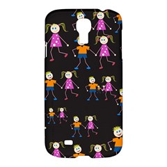 Kids Tile A Fun Cartoon Happy Kids Tiling Pattern Samsung Galaxy S4 I9500/i9505 Hardshell Case by Nexatart