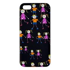 Kids Tile A Fun Cartoon Happy Kids Tiling Pattern Iphone 5s/ Se Premium Hardshell Case by Nexatart
