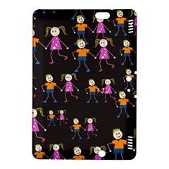 Kids Tile A Fun Cartoon Happy Kids Tiling Pattern Kindle Fire Hdx 8 9  Hardshell Case by Nexatart