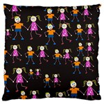 Kids Tile A Fun Cartoon Happy Kids Tiling Pattern Standard Flano Cushion Case (One Side) Front