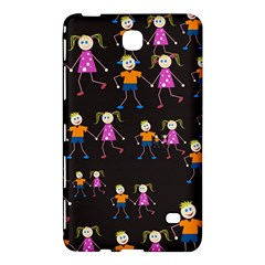 Kids Tile A Fun Cartoon Happy Kids Tiling Pattern Samsung Galaxy Tab 4 (8 ) Hardshell Case  by Nexatart