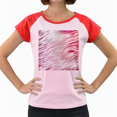Fluorescent Flames Background With Special Light Effects Women s Cap Sleeve T Shirt