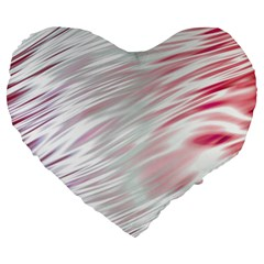 Fluorescent Flames Background With Special Light Effects Large 19  Premium Flano Heart Shape Cushions