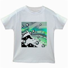 Small And Big Bubbles Kids White T Shirts