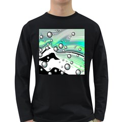 Small And Big Bubbles Long Sleeve Dark T Shirts