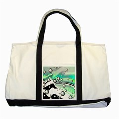Small And Big Bubbles Two Tone Tote Bag by Nexatart