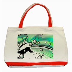 Small And Big Bubbles Classic Tote Bag (red) by Nexatart