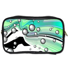 Small And Big Bubbles Toiletries Bags 2 Side by Nexatart