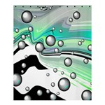 Small And Big Bubbles Shower Curtain 60  x 72  (Medium)  54.25 x65.71 Curtain