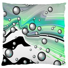 Small And Big Bubbles Standard Flano Cushion Case (two Sides) by Nexatart