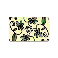 Completely Seamless Tileable Doodle Flower Art Magnet (name Card) by Nexatart