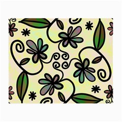 Completely Seamless Tileable Doodle Flower Art Small Glasses Cloth (2 Side) by Nexatart