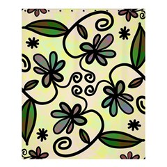 Completely Seamless Tileable Doodle Flower Art Shower Curtain 60  X 72  (medium)