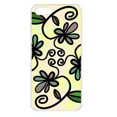 Completely Seamless Tileable Doodle Flower Art Apple Iphone 5 Seamless Case (white)