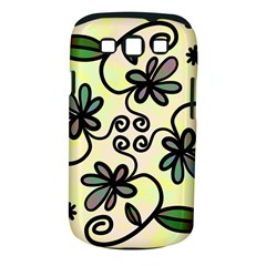 Completely Seamless Tileable Doodle Flower Art Samsung Galaxy S Iii Classic Hardshell Case (pc+silicone) by Nexatart