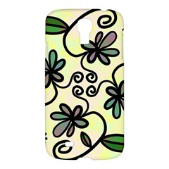 Completely Seamless Tileable Doodle Flower Art Samsung Galaxy S4 I9500/i9505 Hardshell Case by Nexatart
