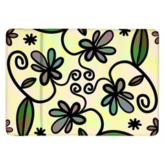 Completely Seamless Tileable Doodle Flower Art Samsung Galaxy Tab 8 9  P7300 Flip Case