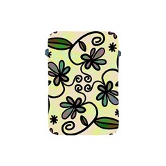 Completely Seamless Tileable Doodle Flower Art Apple Ipad Mini Protective Soft Cases by Nexatart