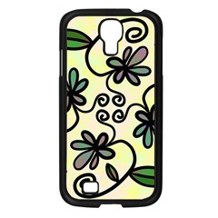 Completely Seamless Tileable Doodle Flower Art Samsung Galaxy S4 I9500/ I9505 Case (black) by Nexatart