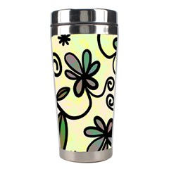 Completely Seamless Tileable Doodle Flower Art Stainless Steel Travel Tumblers by Nexatart